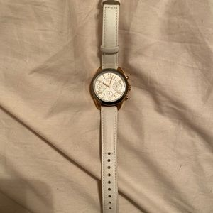 White and Rose Gold Fossil Watch